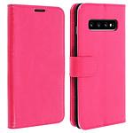 Avizar Etui folio Rose Éco-cuir pour Samsung Galaxy S10