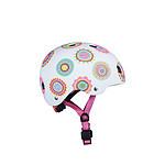 Micro Casque Vélo et Trottinette Doodle Dots boucle magnétique  lumière LED intégrée  Taille XS