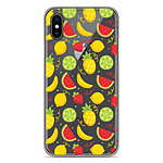 1001 Coques Coque silicone gel Apple iPhone X / XS motif Fruits tropicaux