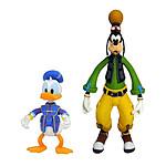 Kingdom Hearts 3 - Pack 2 figurines Goofy & Donald 10 et 18 cm