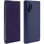 Avizar Etui folio Bleu Nuit Design Miroir pour Samsung Galaxy Note 10 Plus