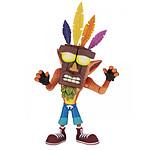 Crash Bandicoot - Figurine Ultra Deluxe Crash avec masque Aku Aku 14 cm