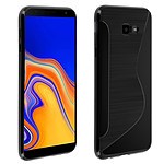 Avizar Coque Noir S-Line pour Samsung Galaxy J4 Plus
