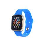 COQUEDISCOUNT Bracelet silicone bleu sans adaptateur pour Apple Watch 42mm