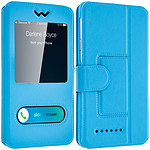 Avizar Etui folio Turquoise pour Smartphones : Longueur entre 139 mm et 144 mm et d'une largeur max de 73 mm