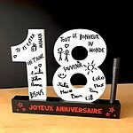 Dédicace 3D Anniversaire 18 ans