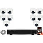 EC-VISION Kit vidéo surveillance IP 10 caméras dômes POE 5 MegaPixels Auto-Zoom x5