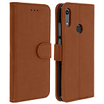 Avizar Etui folio Marron pour Huawei Y6 2019 , Honor 8A