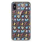 1001 Coques Coque silicone gel Apple iPhone XS Max motif Happy animals