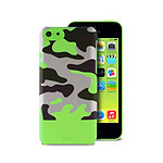 PURO  Coque soft touch CAMOU iPhone 5C  Vert