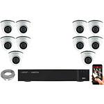 EC-VISION Kit vidéo surveillance IP 10 caméras dômes POE 5 MegaPixels