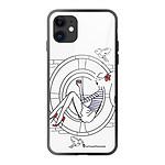 LA COQUE FRANCAISE Coque iPhone 11 soft touch noir effet glossy Sur les Toits de Paris Design