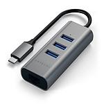 SATECHI Hub Type C 2 en 1 3 USB 3.0 & Ethernet  S