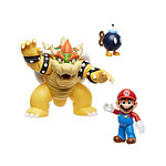 World of Nintendo - Pack 3 figurines Mario vs. Bowser Lava Battle 6-15 cm