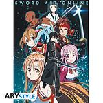 Sword Art Online -  Poster Membres Groupe (52 X 38 Cm)