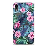 1001 Coques Coque silicone gel Apple iPhone XR motif Tropical Aquarelle