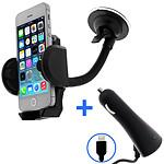 Avizar Pack auto Noir pour Tout les iPhones avec connecteur Apple lightning
