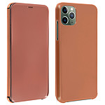 Avizar Etui folio Rose Champagne Translucide pour Apple iPhone 11 Pro Max