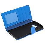 Avizar Etui folio Bleu pour Samsung Galaxy S7 Edge