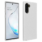 Avizar Coque Argent Design pailleté pour Samsung Galaxy Note 10