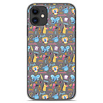 1001 Coques Coque silicone gel Apple iPhone 11 motif Happy animals