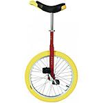 """Qu-ax Monocycle  Luxus 20"""" Rouge Pneu Jaune"""