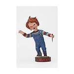 Chucky Jeu d'enfant - Figurine Head Knocker avec couteau 18 cm