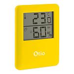 Thermomètre Hygromètre magnétique à écran LCD - Jaune - Otio