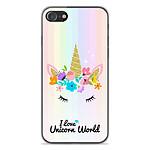 1001 Coques Coque silicone gel Apple iPhone SE 2020 motif Unicorn World
