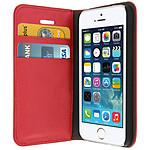 Avizar Etui folio Rouge pour Apple iPhone 5 , Apple iPhone 5S , Apple iPhone SE