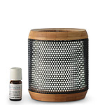 Zen'Arôme - Diffuseur d'Huiles Essentielles Ultrasonique Métal & Bambou Elipsia
