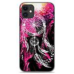 1001 Coques Coque silicone gel Apple iPhone 11 motif Dreamcatcher Rose