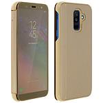 Avizar Etui folio Dorée pour Samsung Galaxy A6 Plus