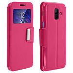Avizar Etui folio Rose Éco-cuir pour Samsung Galaxy A6