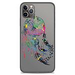 1001 Coques Coque silicone gel Apple iPhone 11 Pro Max motif Dreamcatcher Gris
