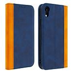 Avizar Etui folio Bleu Nuit pour Apple iPhone XR