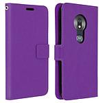Avizar Etui folio Violet pour Motorola Moto G7 Play