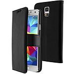 Avizar Etui folio Noir Portefeuille pour Samsung Galaxy S5 , Samsung Galaxy S5 New