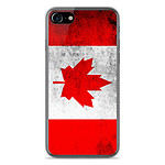 1001 Coques Coque silicone gel Apple IPhone 8 motif Drapeau Canada