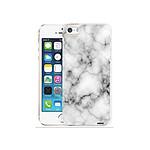 EVETANE Coque iPhone 5/5S/SE rigide transparente Marbre blanc Dessin