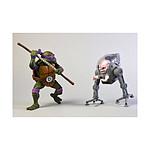 Les Tortues ninja - Pack 2 figurines Donatello vs Krang in Bubble Walker 18 cm