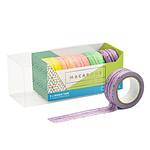 Coffret 5 masking tape effet macaron