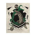 Harry Potter - Lithographie Slytherin 36 x 28 cm