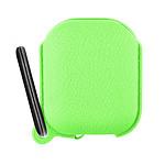 Étui Boitier Airpods 1 et 2 Protection Silicone Mousqueton intégré - vert