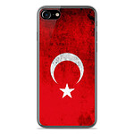 1001 Coques Coque silicone gel Apple IPhone 8 motif Drapeau Turquie