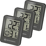Bresser Lot De 3 Thermomètres Et Hygromètres Avec Affichage Lcd Noir BRE_7000010-BK