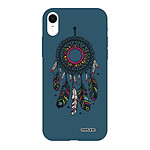 EVETANE Coque iPhone Xr Silicone Liquide Douce bleu marine Attrape rêve
