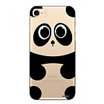 EVETANE Coque iPhone 7/8/ iPhone SE 2020 rigide transparente Panda Dessin