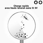 EVETANE Chargeur Induction contour argent blanc Fée