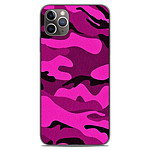 1001 Coques Coque silicone gel Apple iPhone 11 Pro Max motif Camouflage rose